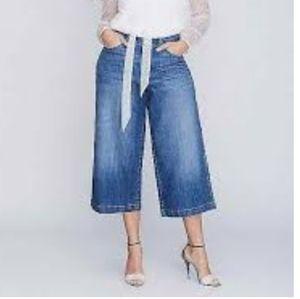 Lane Bryant Womens Wide Leg Denim Capri Plus Size